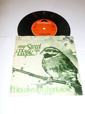 "SWEET PEOPLE - Et les Oiseaux Chantaient - Original 1978 UK 7"" Vinyl Single"
