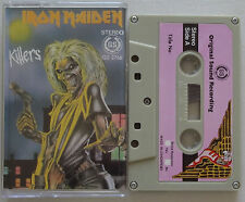 IRON MAIDEN Killers RARE Heavy Metal Tape SINGAPORE Diff Tracklist CASSETTE '81