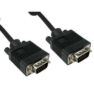 2M VGA/SVGA 15 Pin Male-Male Cable For PC Monitor Computer TFT Extension TV Lead