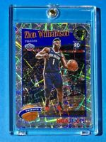 Zion Williamson SILVER LASER PRIZM ROOKIE PREMIUM STOCK NBA HOOPS 2019-20 RC
