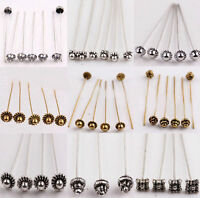 20pcs Antique Silver Gold Tone Long Head Alloy Pins Jewelry Making Findings