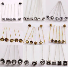 20pcs Antique Silver Gold Tone Long Head Alloy Pins Finding For Jewelry Making
