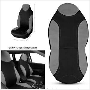 1Pcs Grey Polyester Fabric Seat Protect Cover Universal Fit For Car Front Seat
