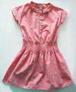 CYRILLUS robe à smocks EXCELLENT ÉTAT coton à fleurs, printemps été, fille 8 ans