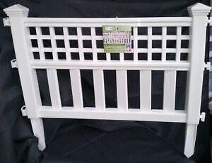 Suncast Grand View 14.5 x 24 Inch Resin Yard Garden Border Fence, White (5 Pack)