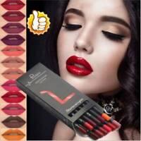 Waterproof 12 PCS/Set Lipstick Lip Liner Long Lasting Matte Lipliner Pencils