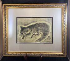 'Petit Chat' Cat Print By Tsuguharu Foujita 1926  Framed
