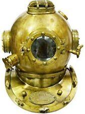 """Diving Divers Helmet U.S Navy Mark V Solid Steel Original Antique 18"""""""