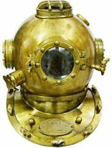 Diving Divers Helmet U.S Navy Mark V Solid Steel Original Antique 18""