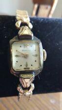 Vintage Woman's Benrus Watch 10k R.G.P Bezel Swiss # 0720 Working
