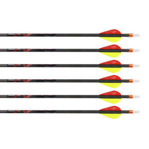 V1 Shafts Carbon Arrows Spine 300 350 400 Archery Compound Bow Screw Tips