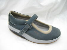 bc342b8f8d96 MBT Kaya Womens Blue Suede Mary Janes Rocker Loafers ladies 9M 8.5 39 2 3