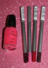 Lot of 4 JORDANA Lip Liner Pencils YOU PICK COLOR SEALED + FREE NAIL POLISH