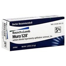 Bausch + Lomb Muro 128 5%, 1/8oz Each (Pack of 9)