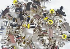 10 x CINCH Einbau Buchse gelb 90° Leiterplatte #19-2#11U26#