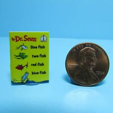 Dollhouse Miniature Replica Book Dr Seuss One Fish Two Fish Red Fish Blue Fish