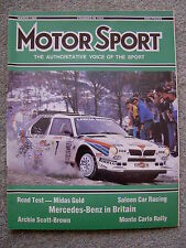 Motor Sport (March 1986) Midas Gold, Seat Malaga, Daytona 24 Hrs, Escort, Orion