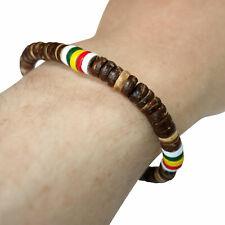 Beaded Wood Bracelet Wristband Bangle Mens Womens Boys Girls Ladies Jewellery