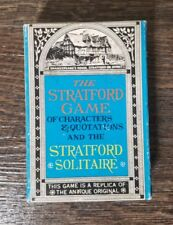 Vintage Stratford Game and Solitaire Shakespeare Merrimack Publishing Corp. Card