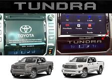 (2) Silver Metallic Vinyl Inserts For 2014-2017 Toyota Tundra Radio Bezel New