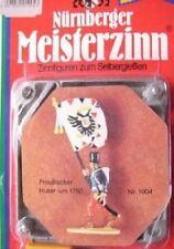 Nürnberger Meisterzinn Preußischer  Husar Fahnenträger 1004