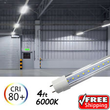 10 PACK LED G13 4FT 4 Foot T8 Tube Light Bulbs 18W 6500K Clear LENS Fluorescent
