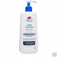 3 x NEUTROGENA SENSITIVE profonda 24h l'umidità ottimale Body Lotion Pelle Secca 400ml