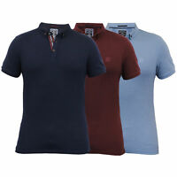 Mens Pique Polo T Shirt Kensington Eastside Short Sleeved Collared Top Summer
