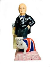 """Wonderful """"Colour Trial"""" Churchill Toby Jug by Peggy Davies Ceramics 1980s"""