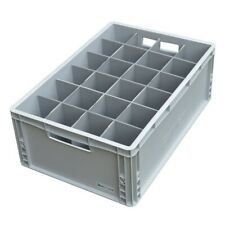 More details for wine glass storage tough crate - 24 cells - 2 height sizes - glassjacks