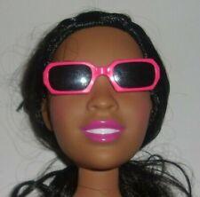"Hot Pink Hard Plastic Square Sunglasses w/Dark Lens for 28""  & 18"" Dolls"