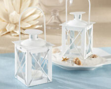 White Mini Lantern Beach Garden Wedding Table Decor Party Favors MW30354