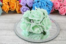 1 Bunch Colourfast Foam Rose Wedding Artificial 6 Flowers 5cm No Additional Post MINT