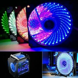 120mm Computer Case PC RGB Cooling Fan LED Cooler With Quiet Remote Control F3Q9
