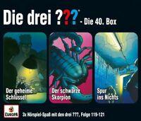 DIE DREI ??? - 40/3ER BOX (FOLGEN 119,120,121)  3 CD NEU