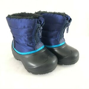 The Little Captain Toddler Girls Boys Winter Boots Faux Fur Quilted Purple 6