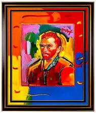 PETER MAX Original Signed PAINTING Large 40x30 VAN GOGH Pop ART Acrylic Oil