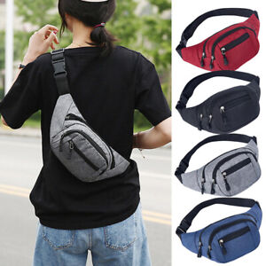 Waterproof Fanny Pack Waist Bag Men Women Shoulder Hip Belt Bag Sport Travel