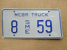 American number licence Nebraska vintage truck genuine embossed never issued USA