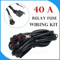 LED HID Spot Work Driving light bar Wiring Loom Harness 12V/24V Relay Switch kit