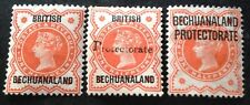 British Bechuanaland 1897+ 3 x Stamps All Different mint hinged