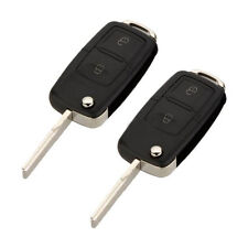 2X Folding 2 Buttons Remote Key Fob Shell Case For VW Golf MK4 Bora Passat 2001