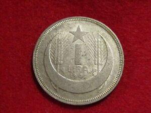 Turkey 1941 1 Lira Silver Coin