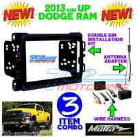 METRA 95-6518B DOUBLE DIN STEREO INSTALL DASH KIT DODGE RAM 2013 + 2018 INTERFAC