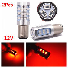 Pair 12V Red Strobe Flash 1156 12SMD S25 LED Bulbs Car Brake Stop Parking Lights