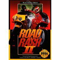 Road Rash II 2 - Sega Genesis Game *CLEAN VG