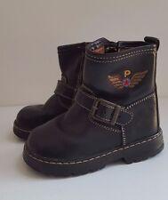 PABLOSKY Baby Boys Black Leather Biker Boots Spanish Shoes__EUR 21 / UK 5 Infant