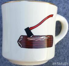 BSA Wood Badge Coffee Mug 70's-80's - Axe in Log Design - Boy Scouts