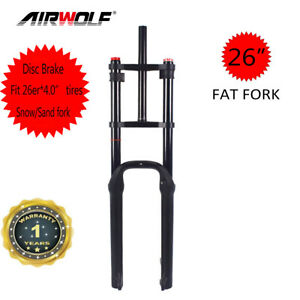 "26er*4.0"" Full Air Suspension Fat Bike Fork Snow Sand Beach MTB Bicycle Forks"