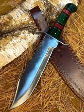 LOUIS MARTIN CUSTOM HANDMADE FIXED BLADE D2 TOOL STEEL ART HUNTING BOWIE KNIFE